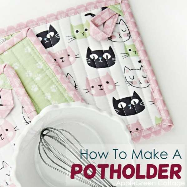 Easy Quilted Pot Holder Sewing Tutorial