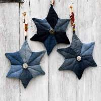 Upcycled Denim Star Christmas Ornament - Sewing Tutorial
