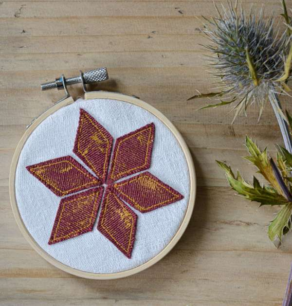 Mini Embroidery Hoop Ornaments - Free Sewing Pattern