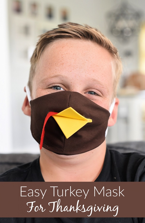 Turkey Face Mask for Thanksgiving - DIY Sewing Tutorial