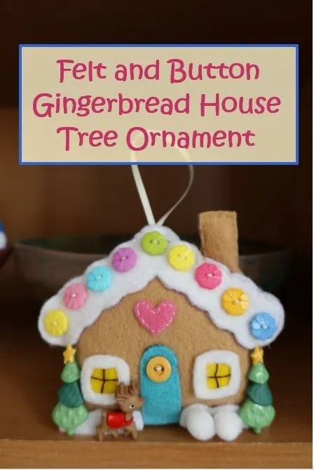 Felt Gingerbread House Christmas Ornament - Free Sewing Pattern