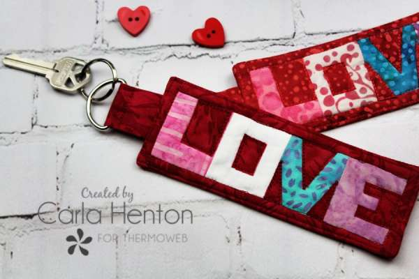 Quilted LOVE Key Fob - Free Sewing Pattern