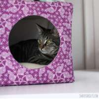 Fabric Cube Cat Bed - DIY Sewing Tutorial