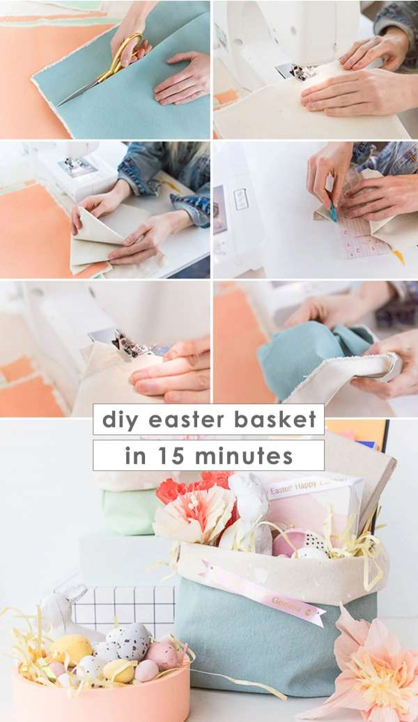 15-Minute Fabric Basket - Easy Sewing Tutorial