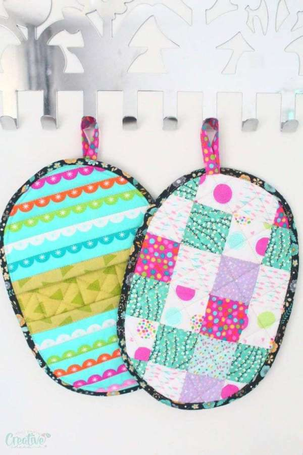 Quilted Pocket Potholder - DIY Sewing Tutorial