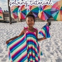 Circle Sundress for Girls and Dolls - Free Sewing Pattern