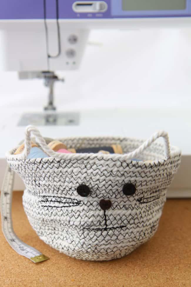 Cat Rope Basket - DIY Sewing Tutorial