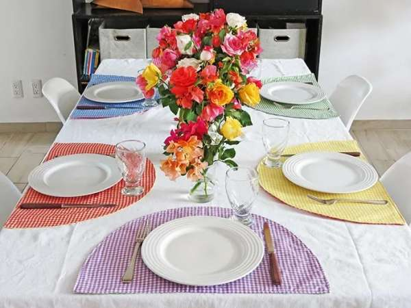 Modern Arch Placemats - Easy Sewing Tutorial