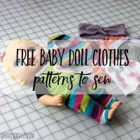 Upcycled Doll Clothes - Free Sewing Pattern
