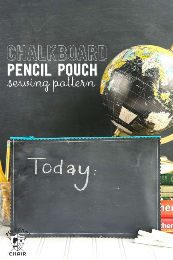 DIY Chalkboard Fabric Pencil Pouch - Easy Sewing Tutorial