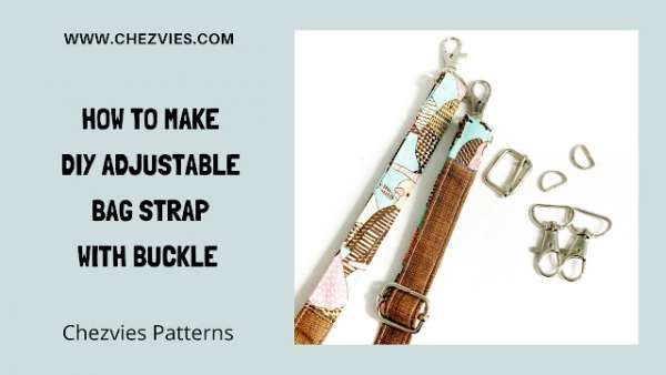 Adjustable Bag Strap with Buckle Sewing Tutorial