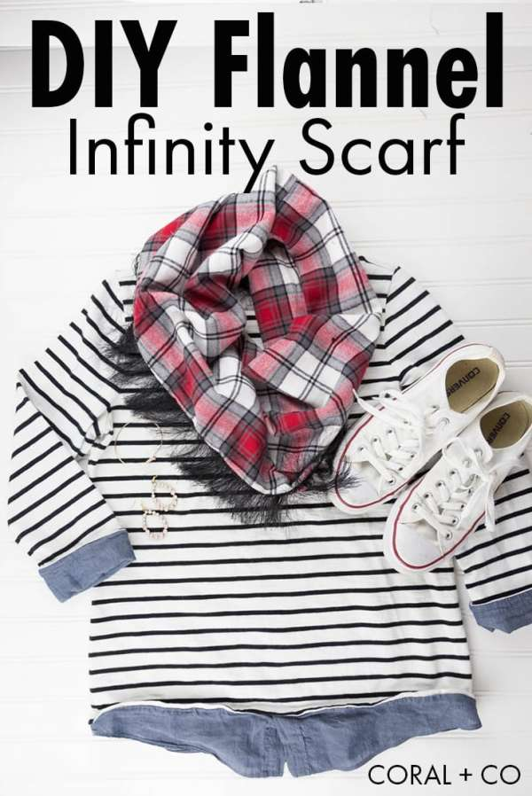 Fringed Flannel Infinity Scarf Sewing Tutorial