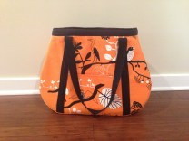 Modern Orange Tear Drop Tote