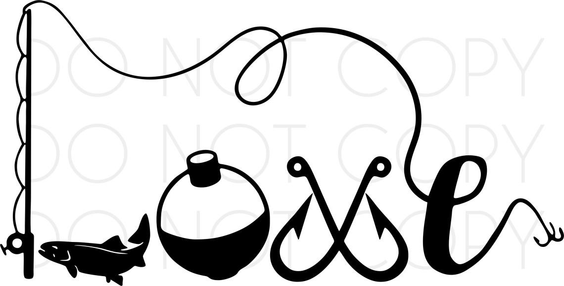 Download Fishing Love SVG Cut and Print design digital download for ...