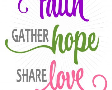 Download Have Faith Hope Love SVG and PNG Clipart instant digital ...