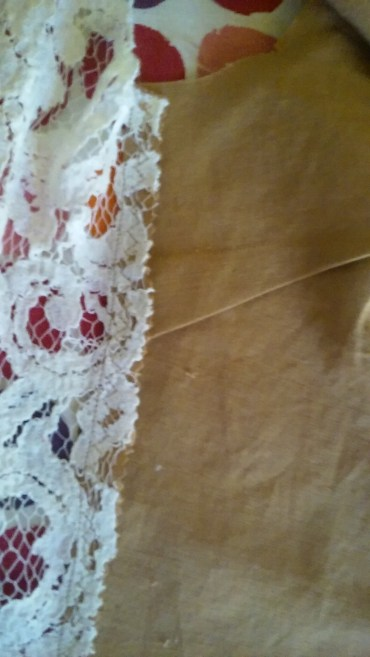 bodice triple stitch side seam