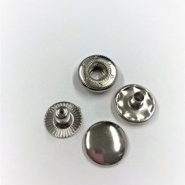 Kraftig jackknapp silver 15mm