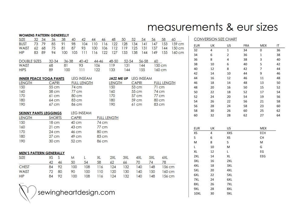 Size Measurements