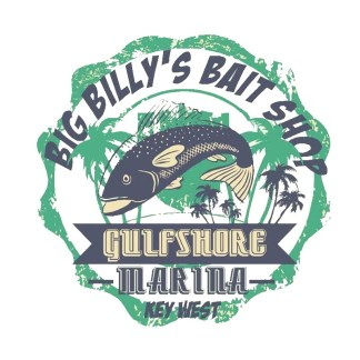 Vinyltryck Big Billys bait shop