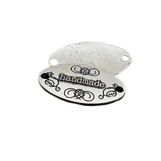 METAL TAGS oval silver