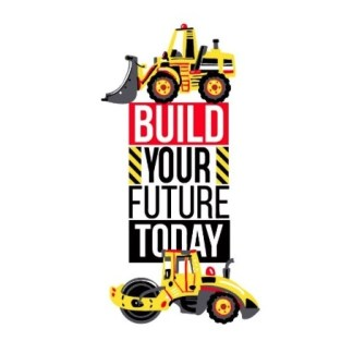 Vinyltryck Build your future - 10x19