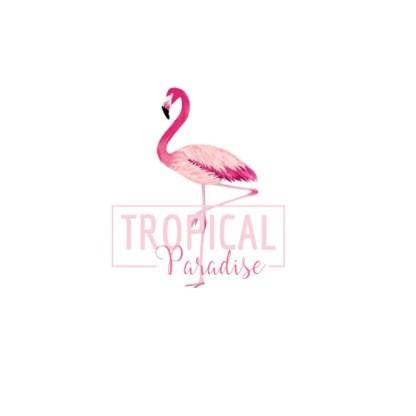 Vinyltryck tropical paradise 19x22