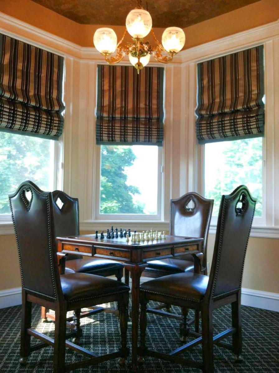 The Sewing Loft of Avon creates custom roman shades