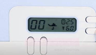LCD display for easy stitch selection