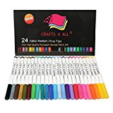 Fabric Markers Pens Permanent 24 COLORS By Crafts 4 ALL