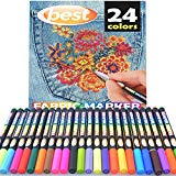 Best Fabric Markers (PACK OF 24 PENS) Non-Toxic