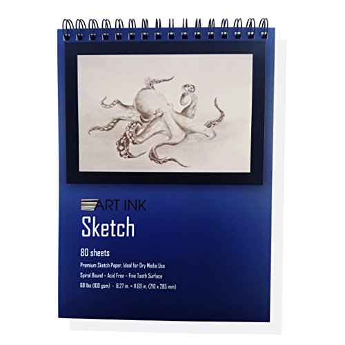 "Sketch PAD, 80 Sheets, 8.3""x 11.7"", 68lbs-100g/m2, Drawing and Sketch Paper"