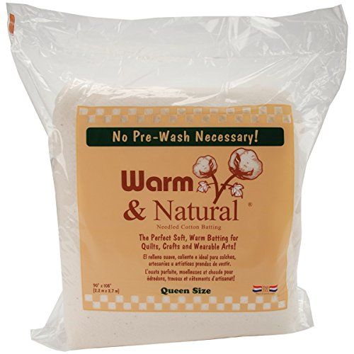 "Warm Company Warm Company Warm & Natural Cotton Batting Queen Size 90""X108"" 2341"