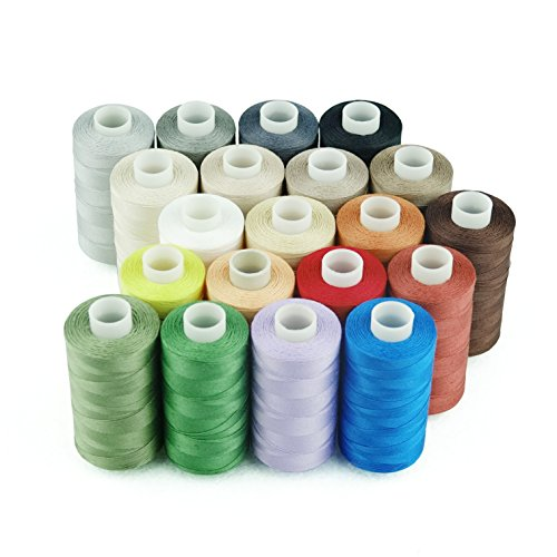 Simthread 20 Multi Colors Cotton Sewing and Quilting Thread
