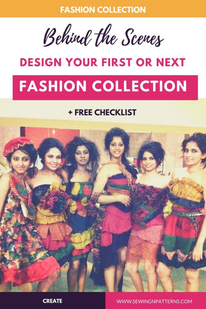 How I created my first fashion collection: From concept to runway, behind the scenes