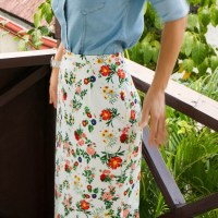 Open Skirt Project: final sample in floral
