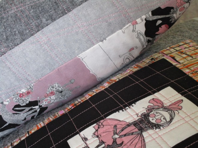 SEW KATIE DID:Halloween Patchwork Pillows:detail