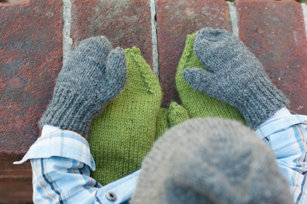 Sew.Knit.Create little mittens