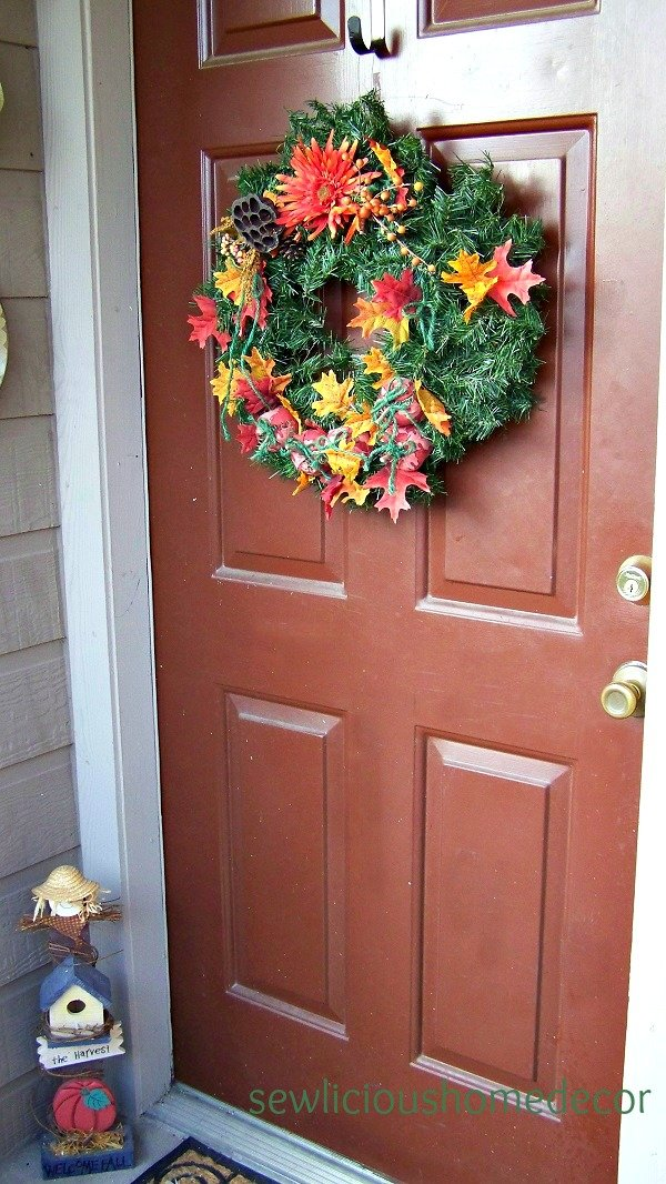 Halloween pumpkin wreath and tuturial
