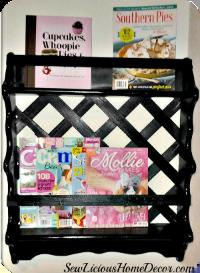 Magazine shelf makeover fb