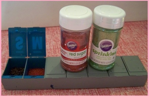 candy sprinkle pill box container