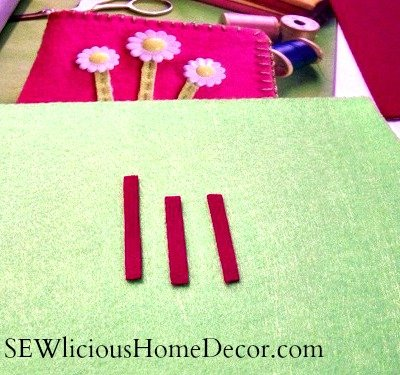 needle holder flower stem sewing tutorial