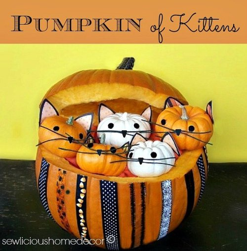 Pumpkin full of kittens tutorial