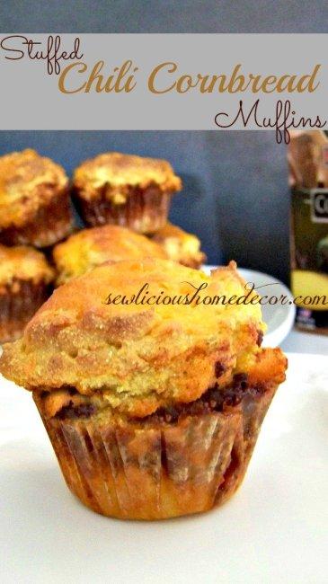 Stuffed Chili Cornbread Muffins
