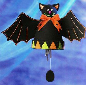 halloween IAH-124-HalloweenBatWindchimes