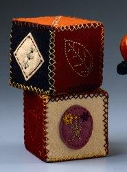 halloween felt cubes