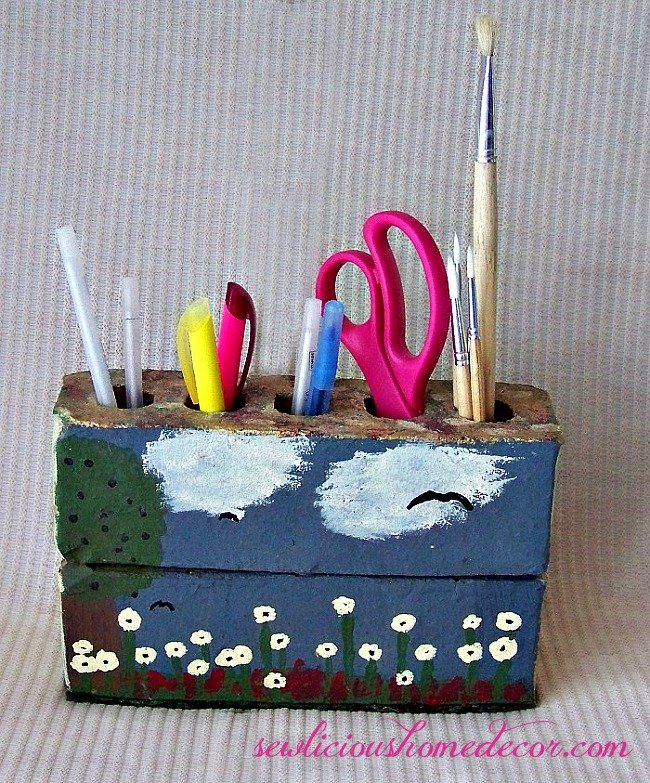 Brick Pen and Pencil Holder