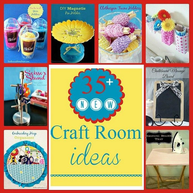 over 35 Craft Room Ideas at sewlicioushomedecor.com