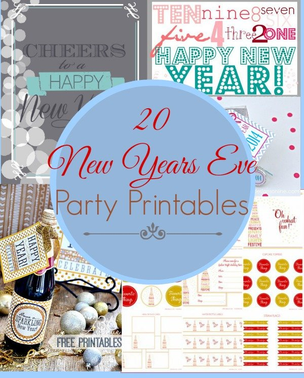 20 New Years Eve Party Printables