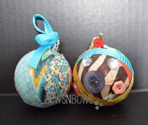 DIY craft room christmas ornaments