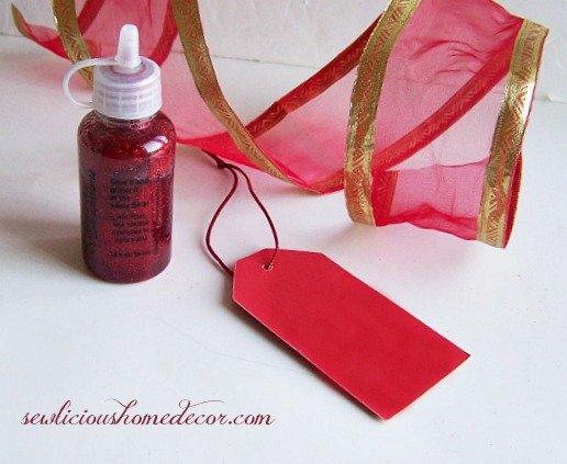 DIY Gift Tag Tutorial supplies